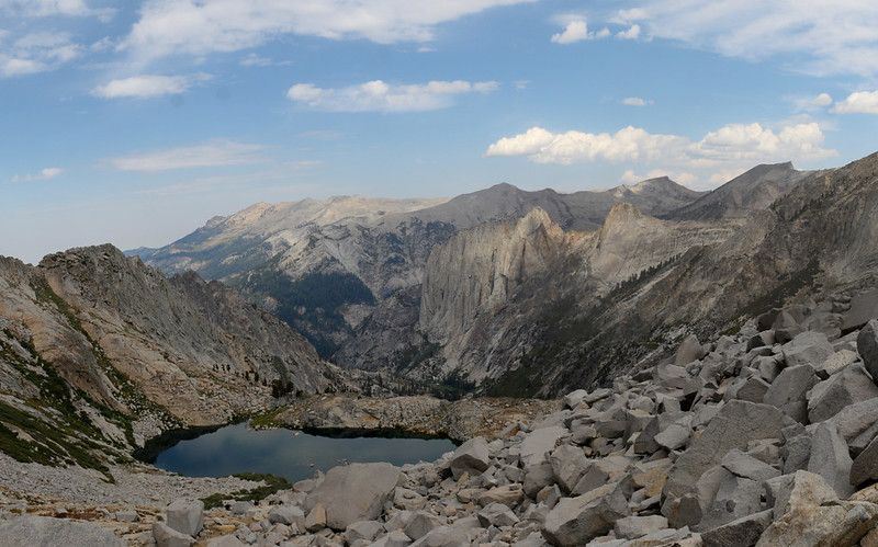View from Precipice Lake down toward Valhalla, with Angel Wings and Cherubim Dome, on the HST