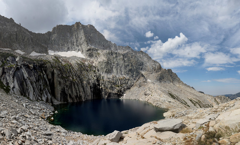 Precipice Lake and Eagle Scout Peak on the High Sierra Trail