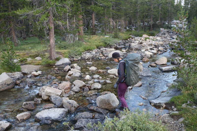 It was an easy crossing of Big Arroyo on the High Sierra Trail during mid-August of 2020, a fairly dry year