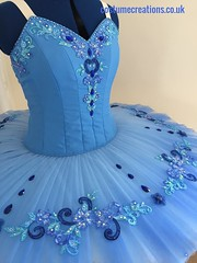 Blue Airbrushed and hand painted tutu
