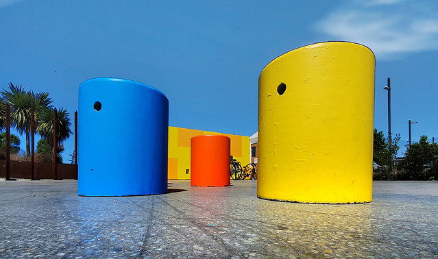 Colored Bollards.