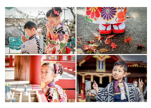 秋の紅葉の季節に岩津天満宮で七五三と1/2成人式