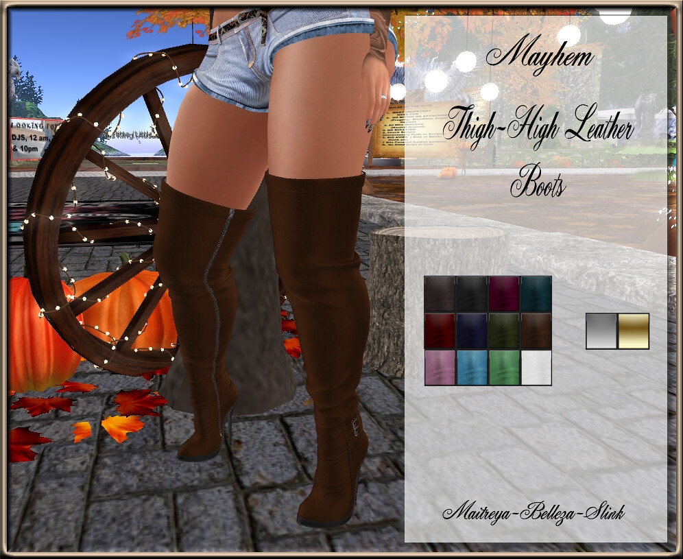 Mayhem Thigh High Boots AD