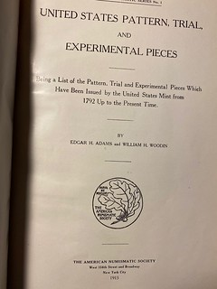 Elliott Smith special Adams-Woodin title page | by Numismatic Bibliomania Society