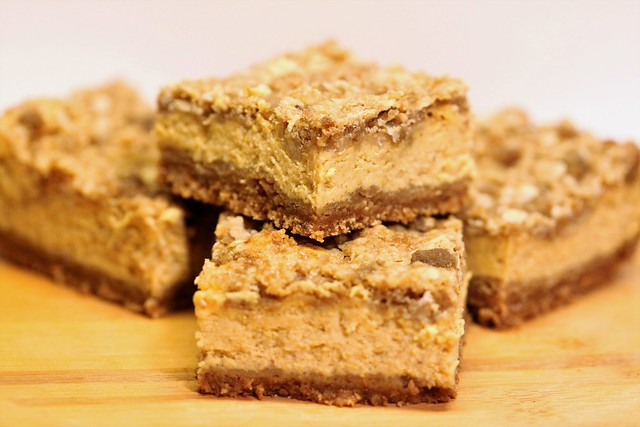 Pumpkin Cheesecake Bars with Streusel Topping [EXPLORED]