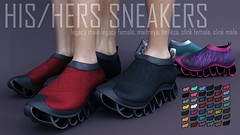 Pure Poison - HIS-HERS Sneakers - Kustom9