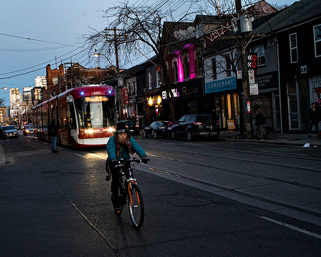Bike and Streetcar