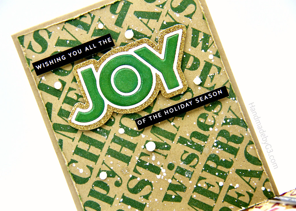 Green Joy card closeup