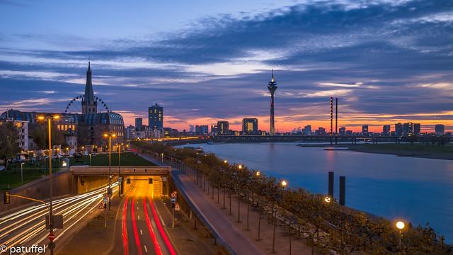 Dusseldorf Skyline during the Blue Hour