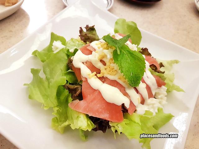 fuji restaurant bangkok salad salmon