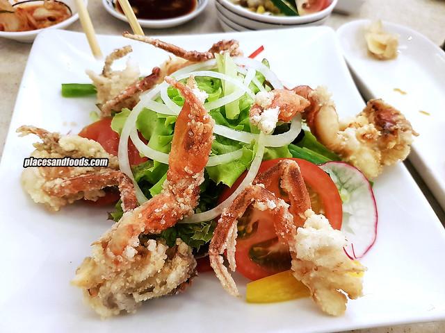 fuji restaurant bangkok salad deep fried crab