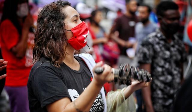 Caminhada com militância no centro Foto: Filipe Araújo