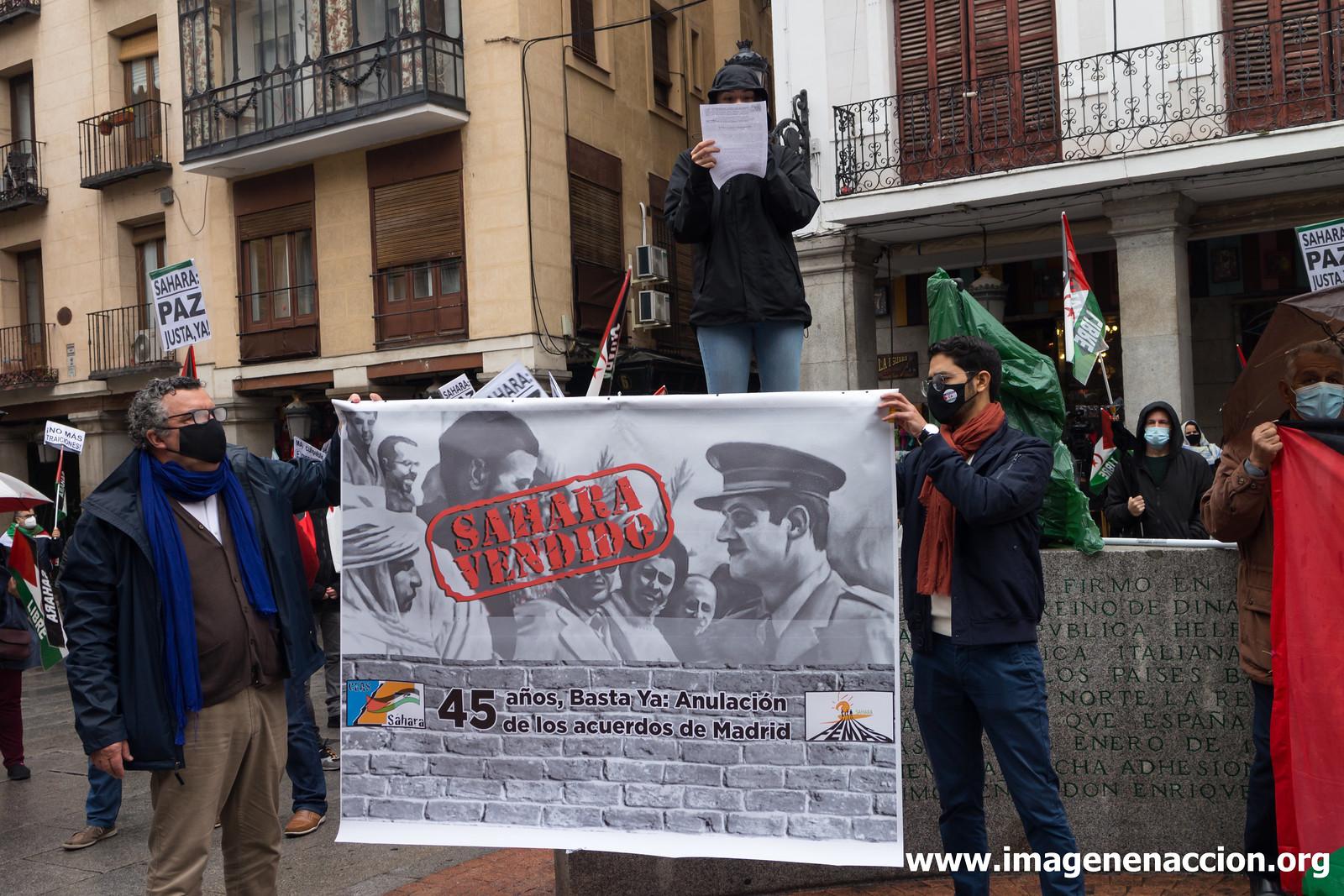 Manifestación a favor del Sahara
