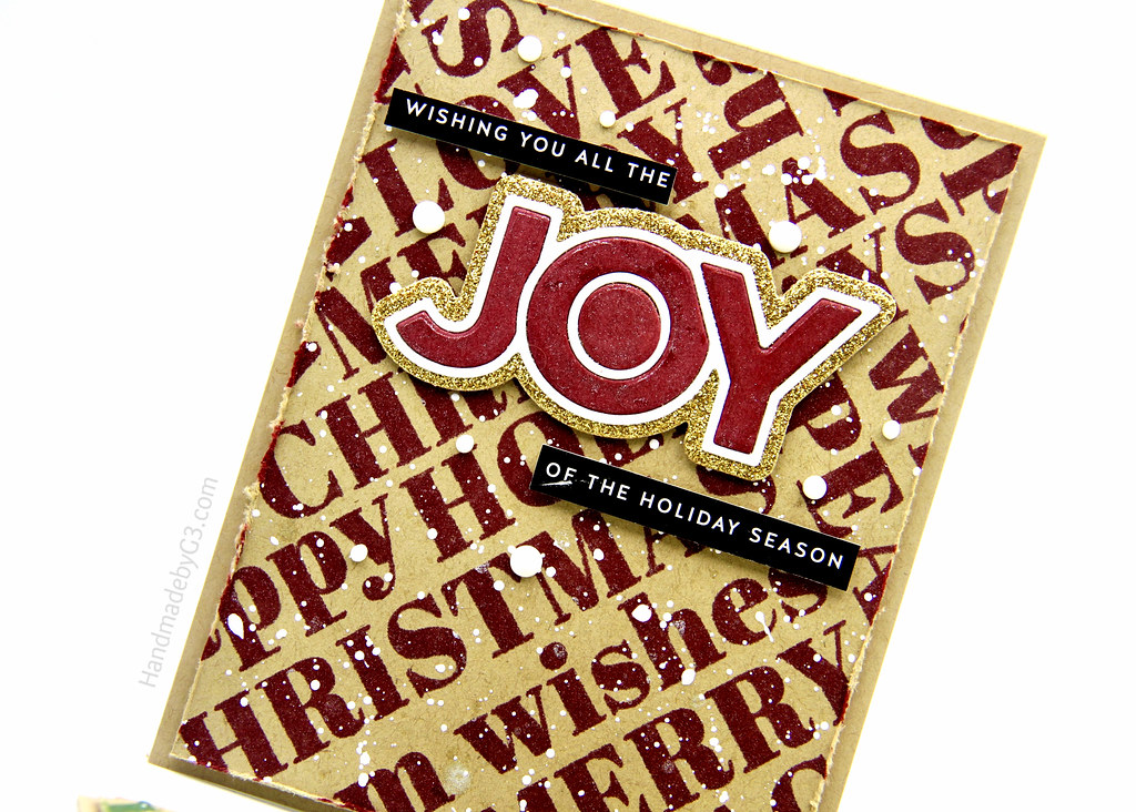Red Joy card closeup
