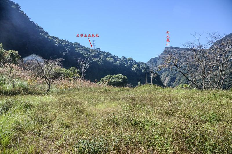 石壁山停車處西南望基點點位