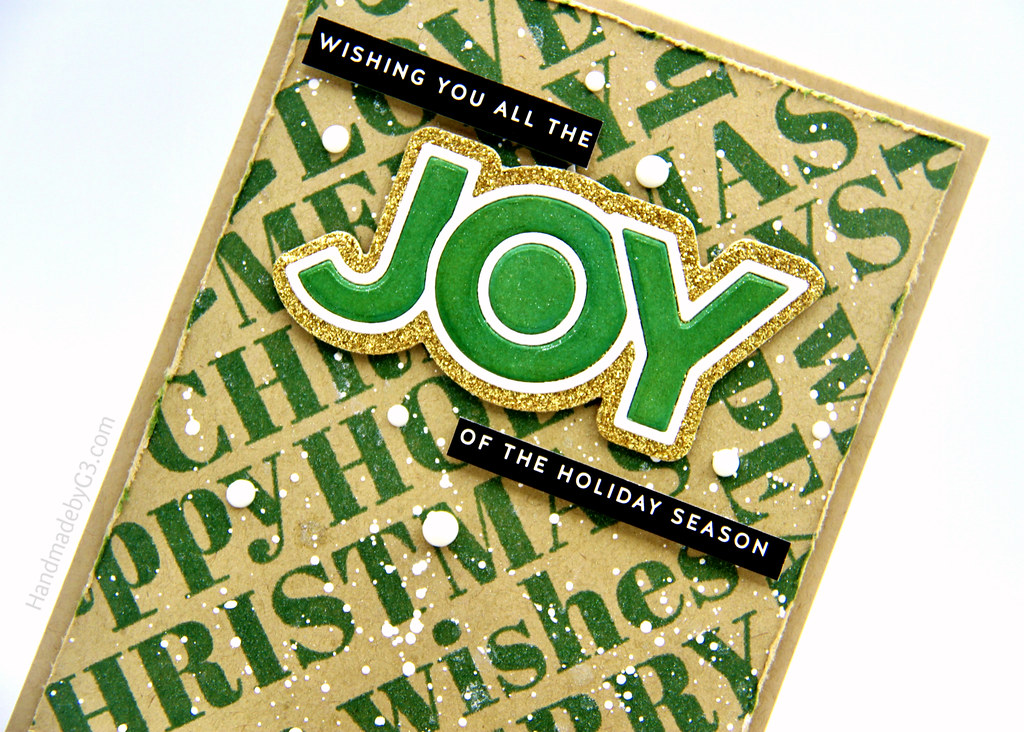 Green Joy card closeup1