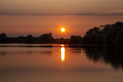 canon6d landscape nature outdoors outside uk cambridgeshire sun sunset lake water reflection silhouette