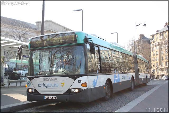 Scania Omnicity G – RATP (Régie Autonome des Transports Parisiens) / STIF (Syndicat des Transports d'Île-de-France) n°1681