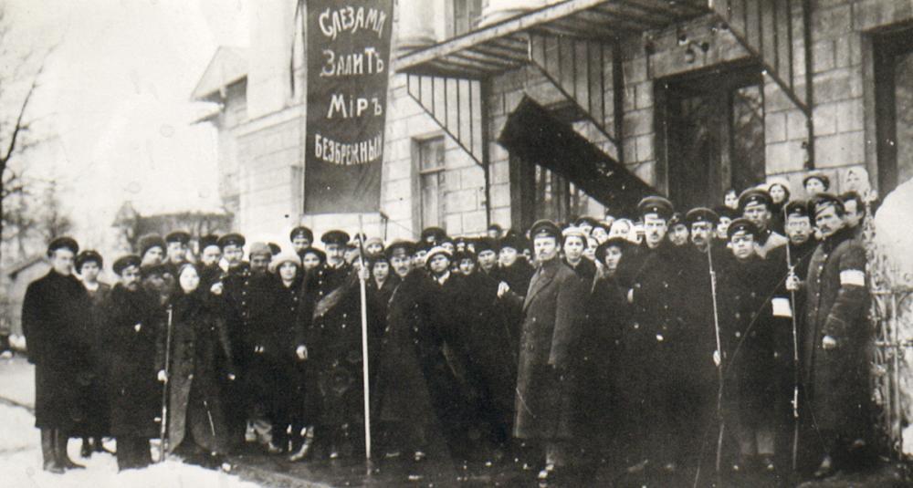 34. Студенты Петербургских сельскохозяйственных курсов в дни февральской революции