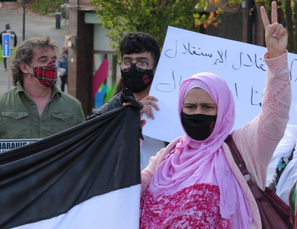 Concentración en solidadridad con el Pueblo Saharaui