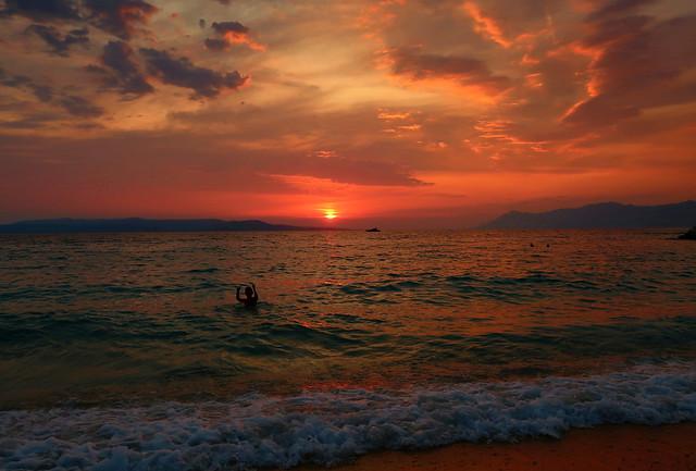 Sunset on Makarska...