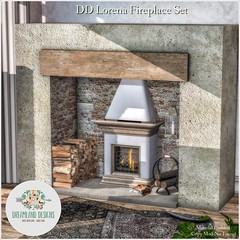 DD Lorena Fireplace Set AD