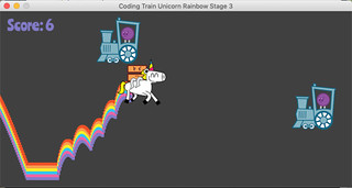 Coding Train Unicorn Rainbow (Stage 3.1) | by Schockwellenreiter