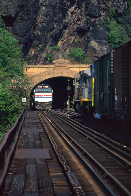 Passing Trains At Harper's Ferry