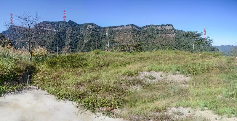 石壁山伯優農場停車處西北望向天湖山稜線 1-1