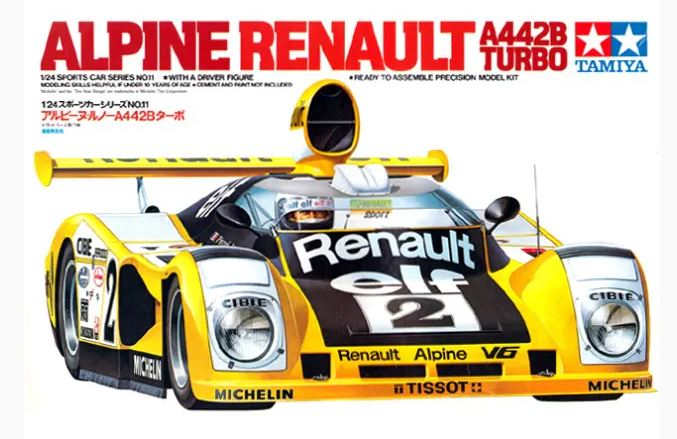 From the box - Alpine Renault A442B Turbo [Tamiya 1/24] 50604988312_bf7ebcffac_o