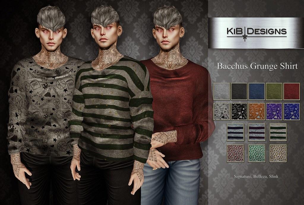 KiB Designs – Bacchus Grunge Shirt @1o1L Event