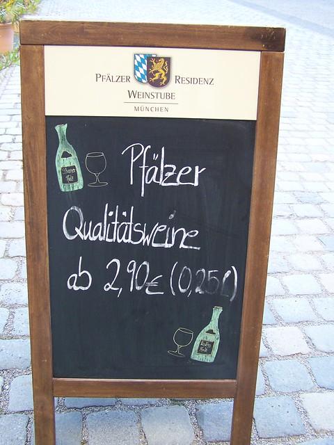 Pfälzer Wein in Bayern 😁👍