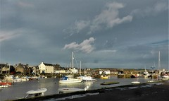 Stonehaven harbour with autumn sun