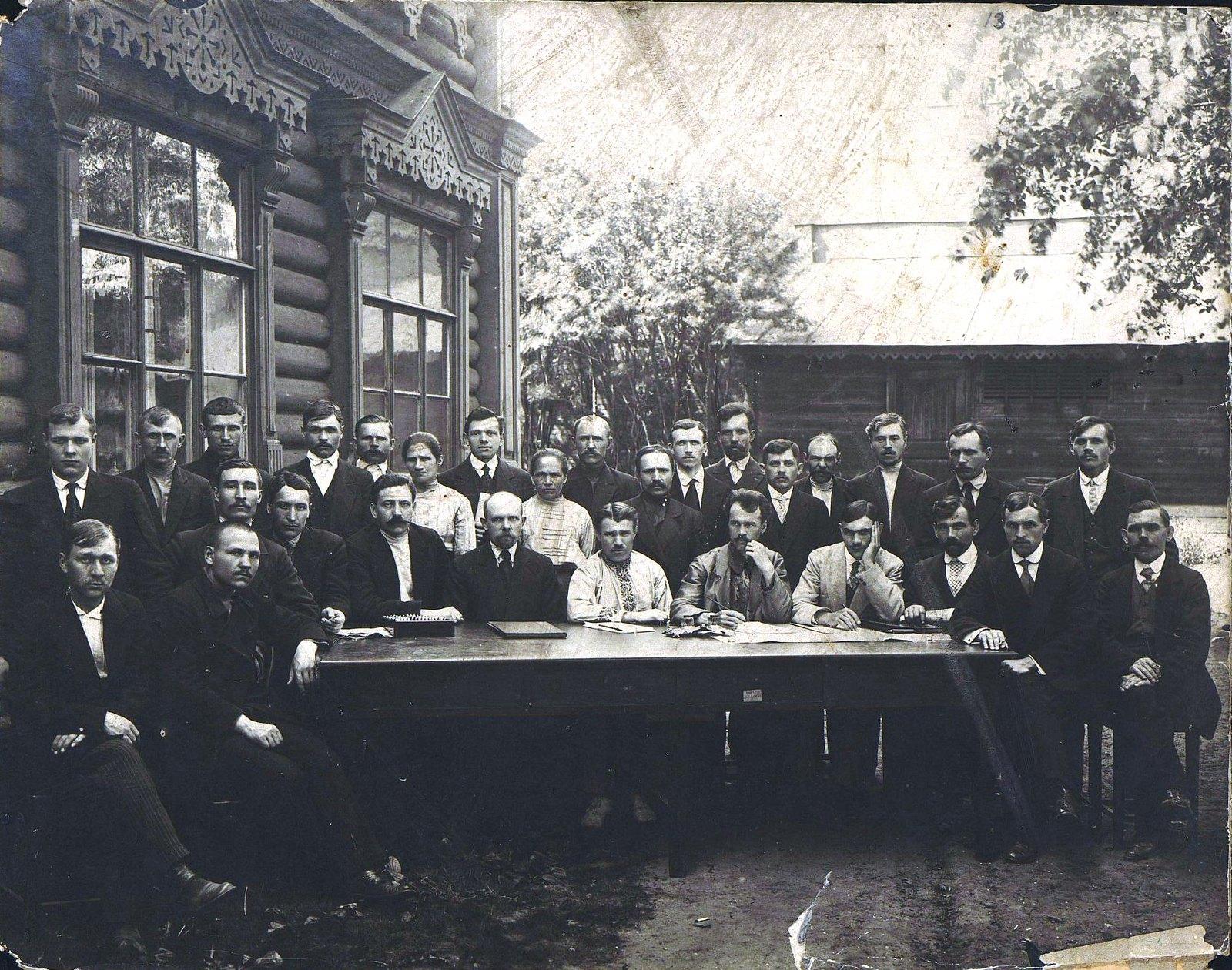 56. Члены первого заводского комитета после февральской революции