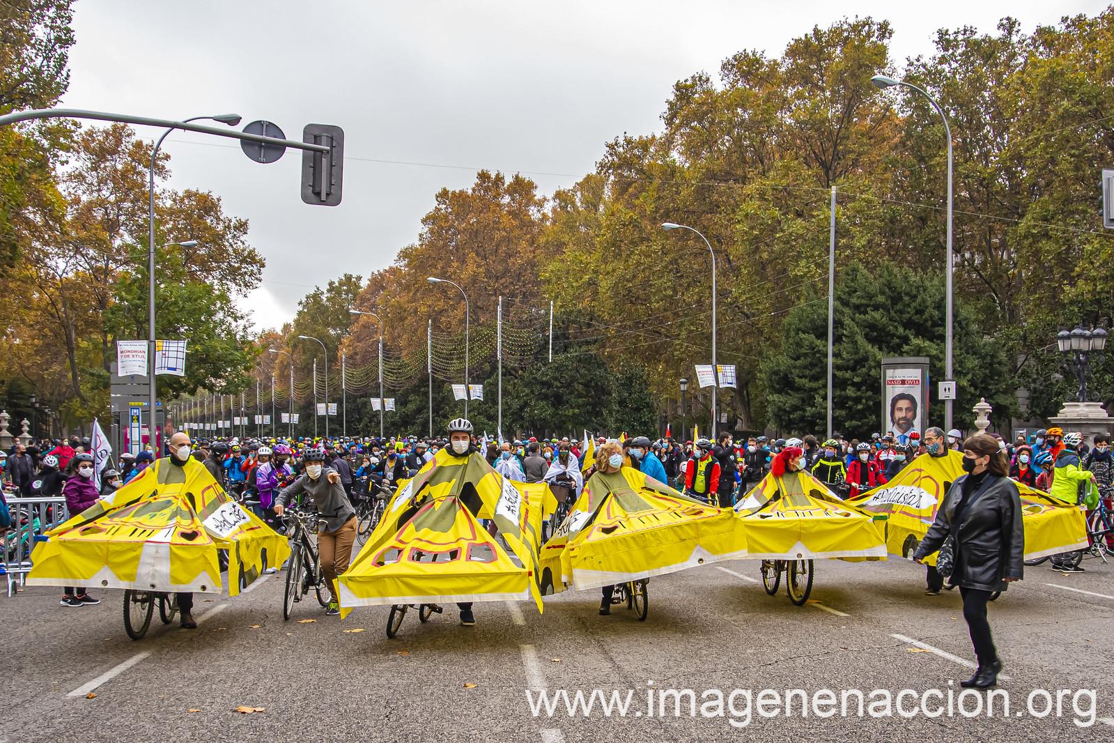 MANIFESTACIÓN EN MADRID PARA EXIGIR UNA RED CICLISTA PROTEGIDA