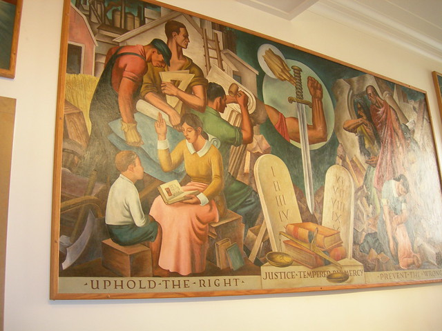 Roswell NM Post Office Mural