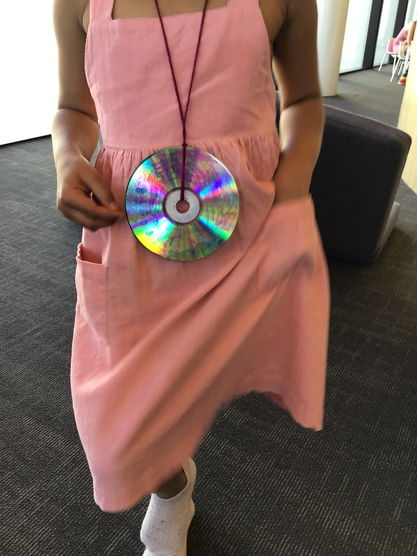 CD decorations craft, Tūranga