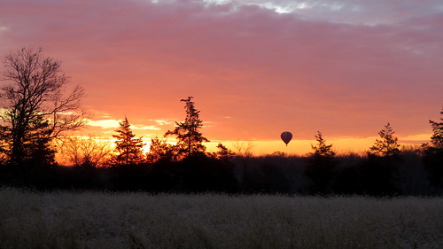 sunrise clouds balloon hot air new jersey readington whitehouse station trees