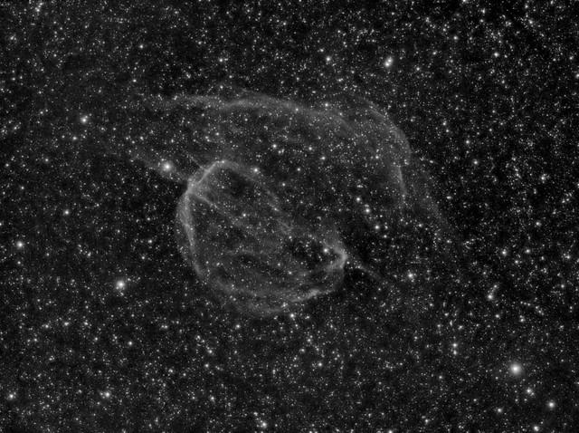 SH2-224 - Supernova Remnant in Auriga - H-alpha - 2020-11-06