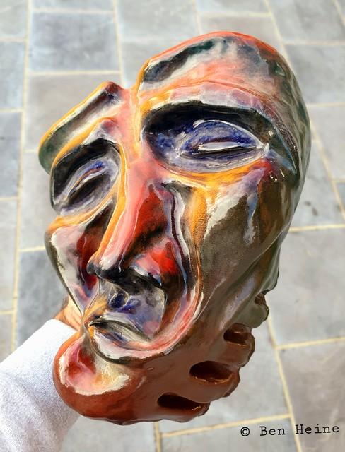 Mask in clay by Ben Heine (2003) / Masque en argile de Ben Heine (2003)