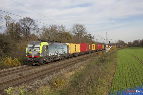 Re 475 405 . BLS Cargo . 42698 . Hofstadt (Herzogenrath) . 15.11.20.