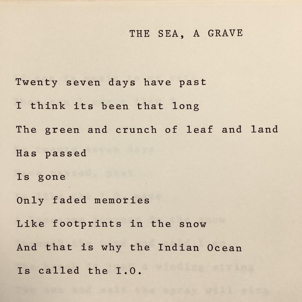 The Sea, A Grave