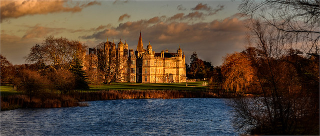 Burghley House from the Lion Bridge