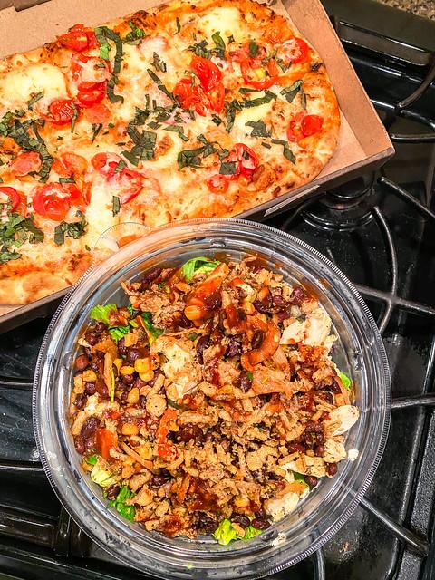 Panera flatbread and salad