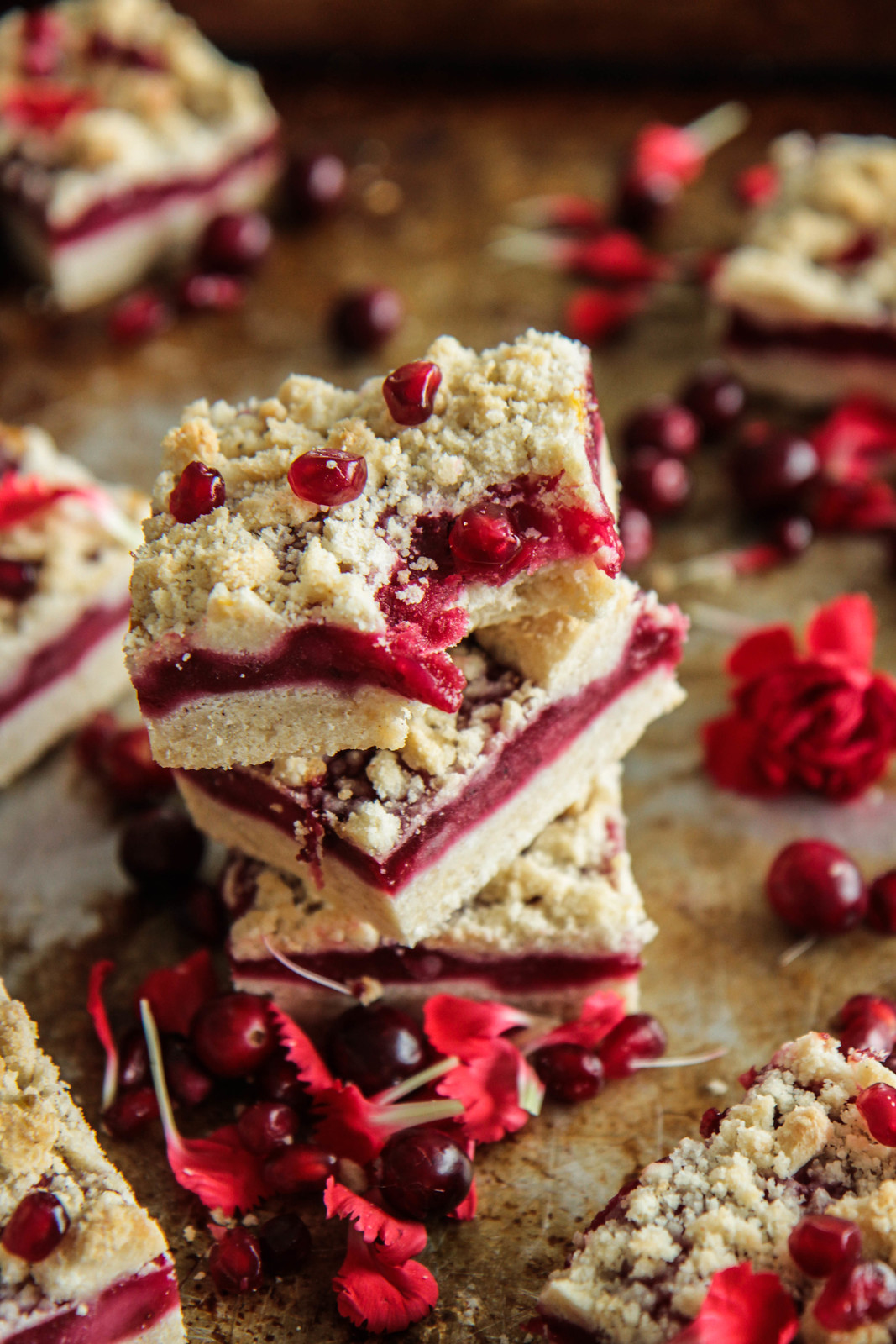 Cranberry Pear Crumble Bars (Vegan and Gluten-free) from HeatherChristo.com