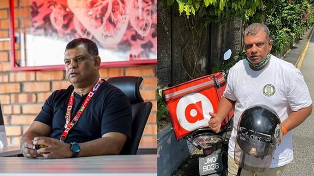 Dari Meja CEO Ke Jalanan, Tony Fernandes Kini Bergelar Penghantar Makanan