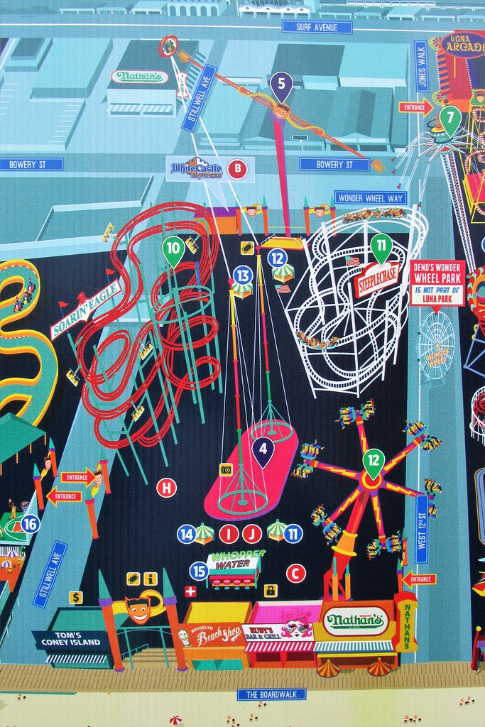 Coney Island - Luna Park Map