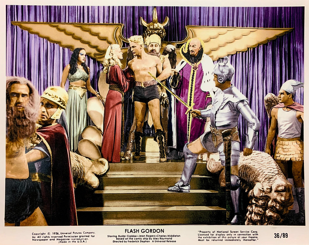 Details about  /Movie Film Flash Gordon Planet Of Peril Crabbe Sci Fi Serial Usa Framed Print