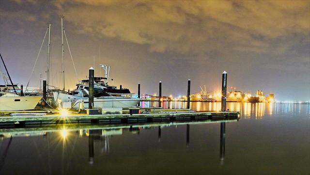Canton Docks at Night - Baltimore, MD