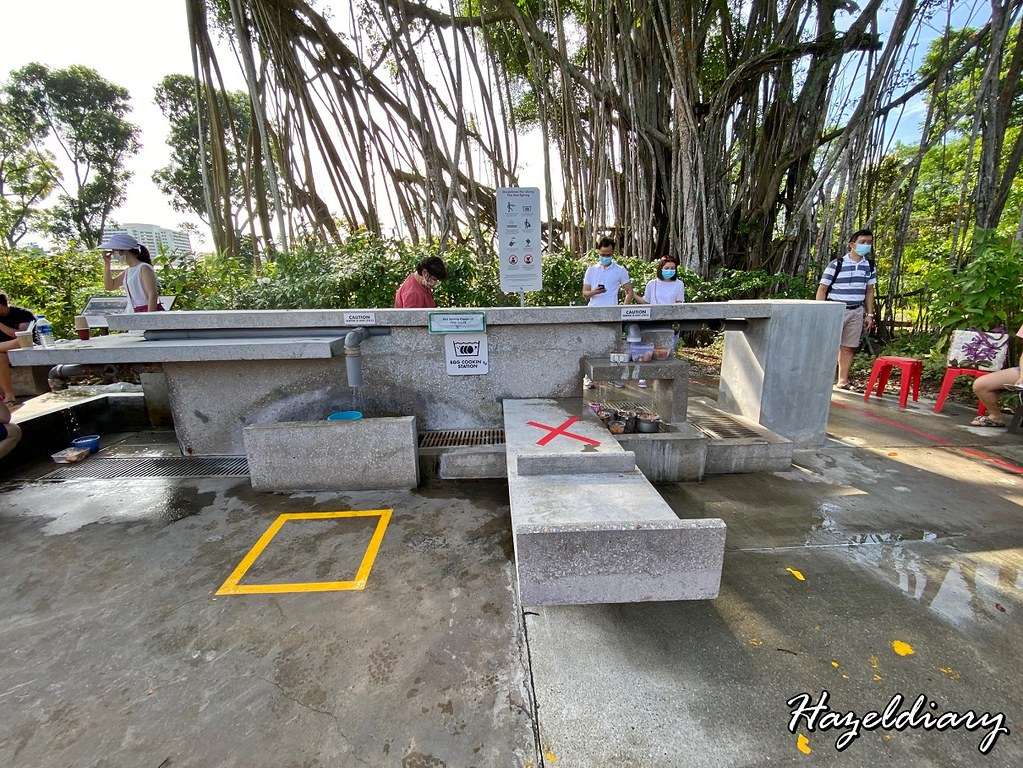 Sembawang Hot Spring Park Singapore-Egg Cooking Station